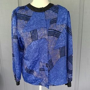 - Laura and Jayne polyester vintage blouse 1…